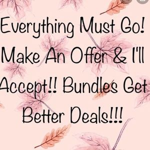 I'll accept reasonable offers!
